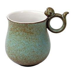Mountain Set Happy Monkey Mug, 12 oz for Coffee, Tea, Cocoa,