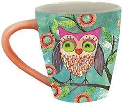 Lang Happy Owl Cafe Mug by Wendy Bentley, Multicolored