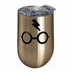 Harry Potter Glasses 14 oz Stainless Steel Wine Tumbler Mug
