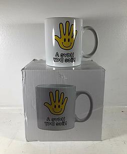 Have A Nice Day Coffee Mug Cup Middle Finger Bottom Ceramic