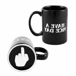 Have A Nice Day Coffee Mug Middle Finger Funny Cup for Milk,
