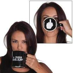 Have a Nice Day Middle Finger Ceramic Mug Coffee Office-Home