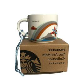 Starbucks Hawaii Mug small Cup You Are Here Collection Ornam