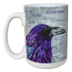 Healing Raven Mug - Large 15 oz Ceramic Coffee Mug