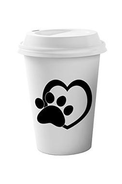 Style In Print Heart Paw #1 Coffee Ceramic Travel Tumbler Mu