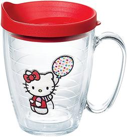 Tervis Hello Kitty Party Kitty Emblem Mug with Red Lid, 16 o