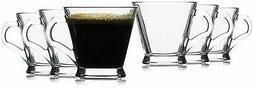 Hikari 6oz Espresso Glass Cups w/ Handles; Keeps Beverages H