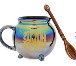 Disney Hocus Pocus Iridescent Mug and Broom Spoon Set Confir
