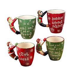 Certified International Set of 4 Holiday Handle Mugs