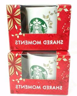 Starbucks Holiday Mugs 2013 Shared Moments set of 2 new in b