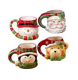 Certified International Set of 4 Holiday Mugs