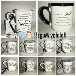 Holiday Thankful Religious Theme Coffee Mugs Gifts, Faith, L