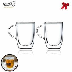 Home Fashion Double Wall Glass Clear Insulated Glasses Cups