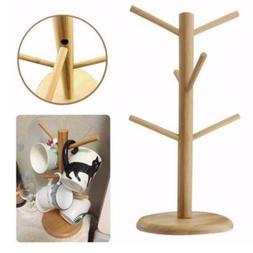 Home Wooden Cup Mug Tree Kitchen Storage Rack Holder Display