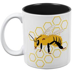 Honey Bee Honeycomb Outline All Over Coffee Mug