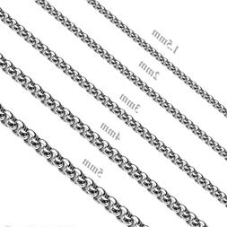 Hot Fashion MEN Stainless Steel 2mm/3mm/4mm/5mm Silver Smoot