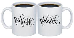 Hubby - Wifey Valentines Gifts for Couples Coffee Mugs MCPL1