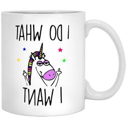 I do what I want Funny Unicorn Mug Gift for coworkers or off