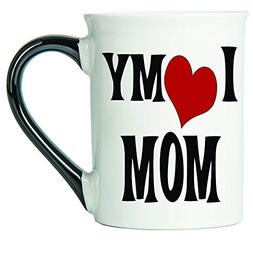 I Love My Mom Coffee Mug, Ceramic Mom Coffee Cup, Mom Gifts