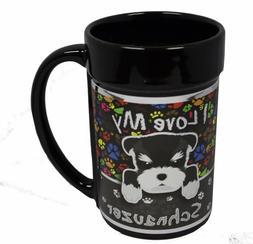 I Love My Schnauzer 15 oz Black Metallic Ceramic Coffee Mug