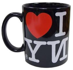 I Love NY Black 11 oz Coffee Mug, Microwave and Dishwasher S