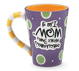 "I'm A Mom, What's Your SuperPower?"" 12oz Coffee Mug"