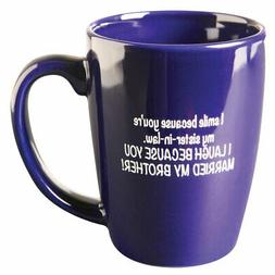 I Smile Because You're My Sister-In-Law Funny Mug - Blue