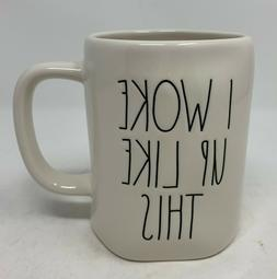 "Rae Dunn ""I Woke Up Like This"" Coffee Tea Mug Ivory with"