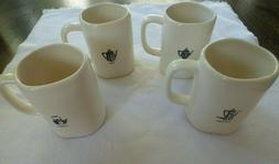 RAE DUNN Icon Collection SET of 4 Mugs Coffee, Cider, Cocoa,