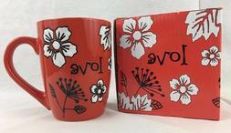 Inspirational LOVE Coffee Mug Christian Art Gifts Red White
