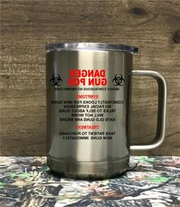Insulated Stainless Steel *GUN POX *Coffee Mug with Lid and