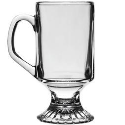 Anchor Hocking Irish Coffee Clear Glass Cup Mugs Set of 2