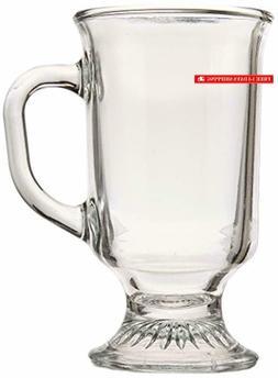 Anchor Hocking Irish Coffee Glass Coffee Mugs, 8 oz