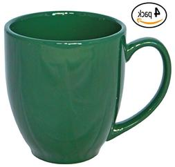 ITI Ceramic Bistro Coffee Mugs with Pan Scraper, 14 Ounce