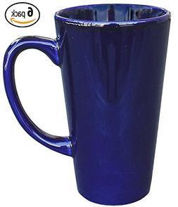 ITI Ceramic Tall Funnel Cup Coffee Mugs with Pan Scraper, 16