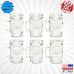Mason Jar Mug Classic Clear Handle Cup Drinking Mugs Cups Gl