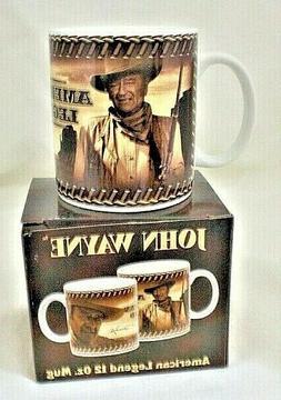 JOHN WAYNE VANDOR COWBOY legends coffee mug NEW BOXED