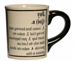 Tumbleweed 'JOY' Inspirational Definition Ceramic Coffee Mug