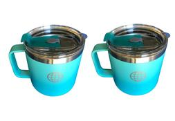 jtsc coffee mugs- 14 oz with lid and handle - 2 Pack- Spillp