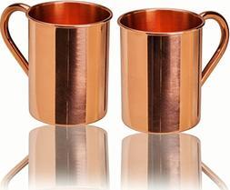 23oz. Jumbo Moscow Mule Copper Mugs - Set of 2 - 100% Solid