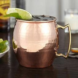 Jumbo Moscow Mule Mug  100% Pure Solid Hammered Copper