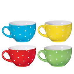 Jumbo Soup Bowl and Cereal Mugs Wide Ceramic Mug Set of 4, 2