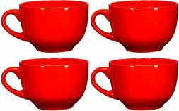 Bruntmor Jumbo Soup Bowl Cereal Mugs Set of 4 Wide Ceramic M