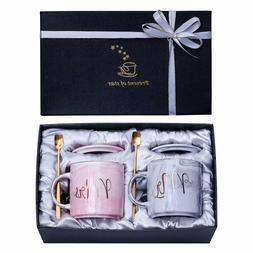 Jumway Mr and Mrs Coffee Mugs - Wedding Gift for Bride