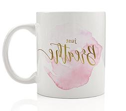 Just Breathe Coffee Mug Gift Idea Calm Relax Calming Relaxat