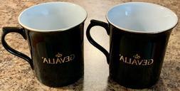 GEVALIA Kaffe 2 Coffee Mugs Tea Cups Large 12 oz Capacity Bl