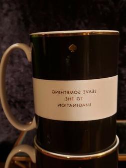 Kate Spade Lenox Simply Sparkling Black / White 4 Coffee Mug