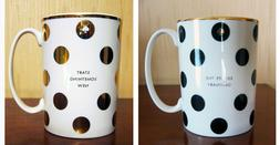 Kate Spade  simply sparkling  coffee MUG by Lenox , DOTS 12