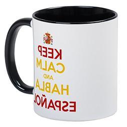 CafePress - Keep Calm And Habla Espanol Mugs - Unique Coffee