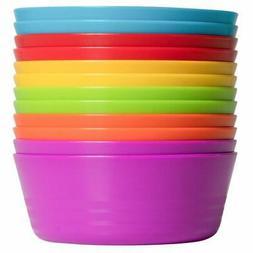 Kids Colorful Bowl Set Of 12 Bowls- Microwave Dishwasher Saf